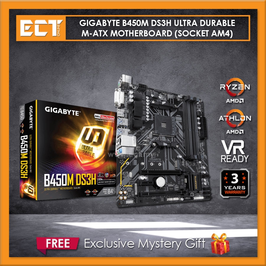 Gigabyte B450m Ds3h Ultra Durable Crossfire M Atx Motherboard Socket Am4 Shopee Malaysia