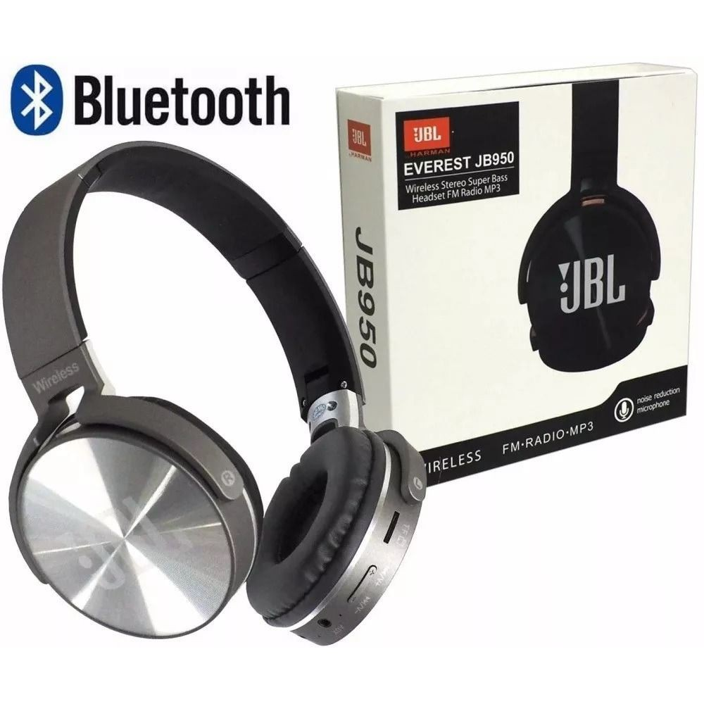JBL Headphone JBL 950BT Bluetooth Wireless Headphones Bass Headset With Mic