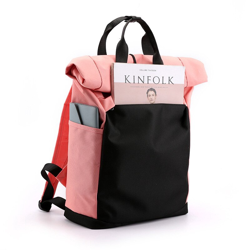 Creative Flamingo Pattern Women Sports Gym Totes Bag Multi-Function Nylon Travel Shoulder Bag