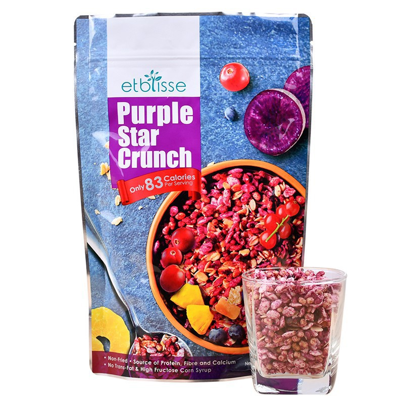ETBLISSE - Purple Star Crunch 紫薯酥脆麦谷 (220g) [HALAL][Non GMO]