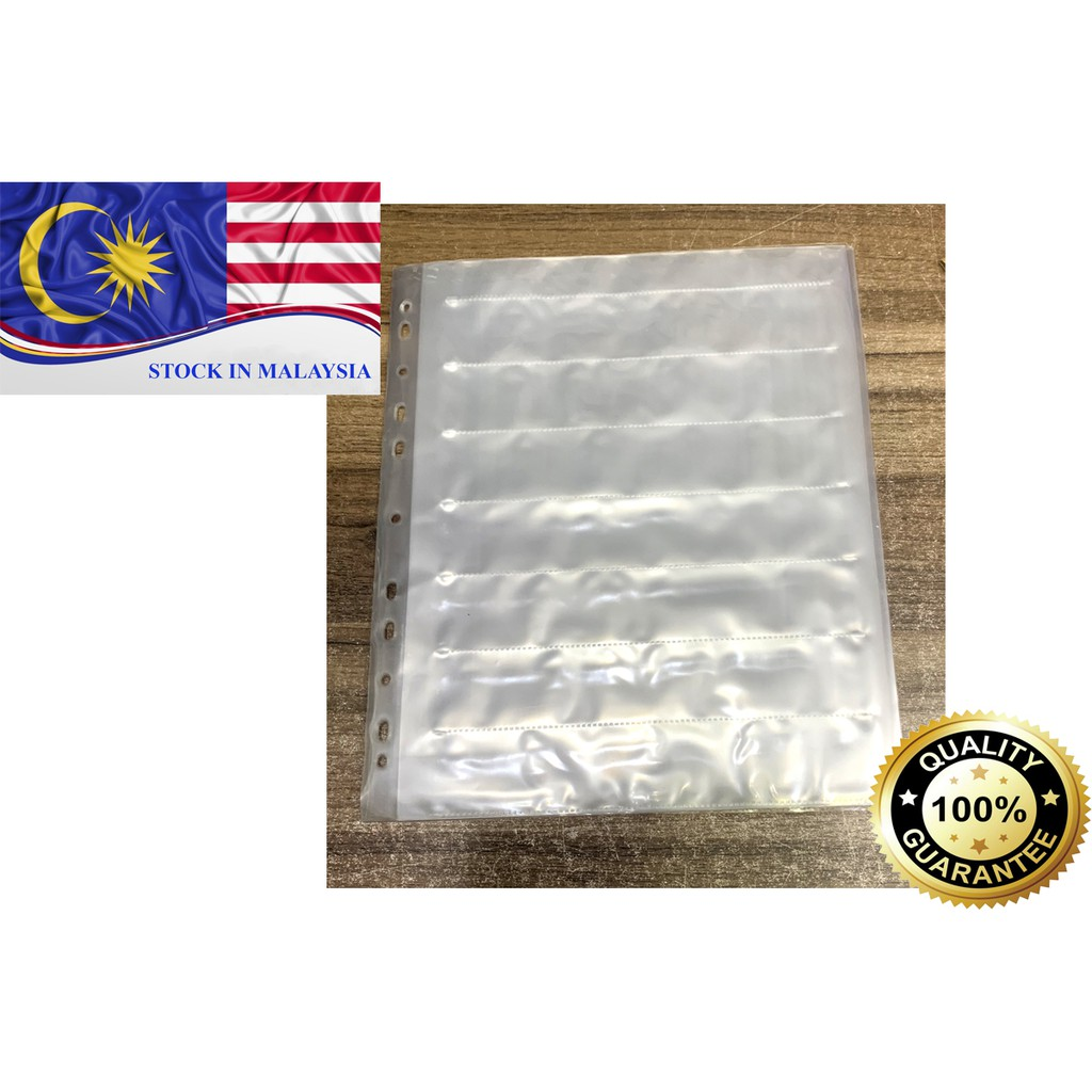Archival Storage Sheets for 35mm Film Negatives 7 Strips 1 Piece (Ready Stock In Malaysia)