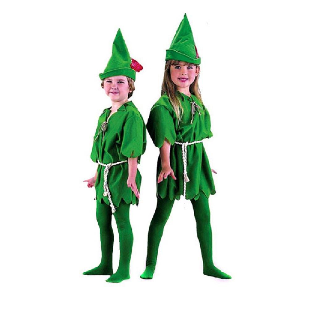 136cd39e5 HOTChildren Peter Pan Green Elves Robin Cosplay Fancy Halloween ...