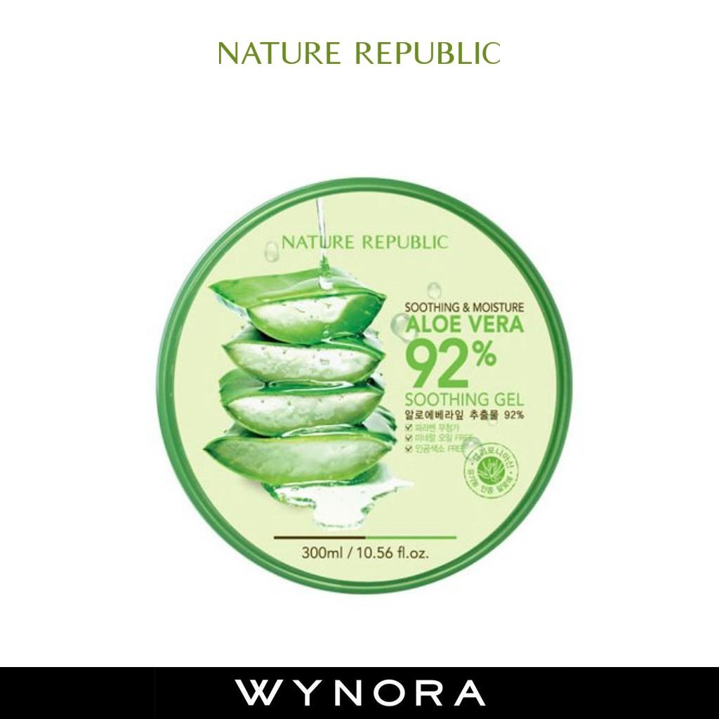 100 Original Nature Republic Aloe Vera Gel Shopee Malaysia Bioaqua