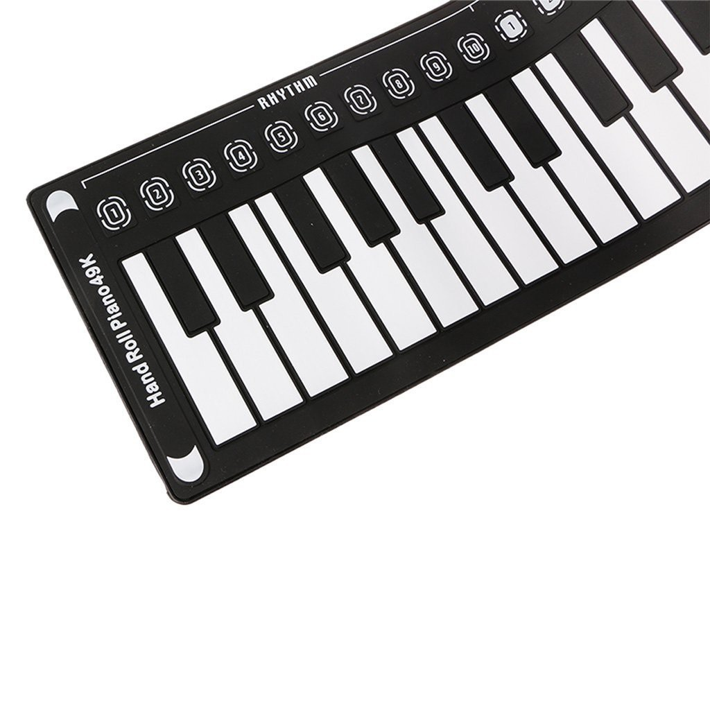 Portable 49 Keys Flexible Roll Up Piano Electronic Soft Keyboard Piano
