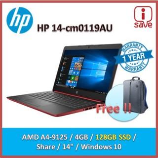Hp 14 Cm0119au Laptop Red Amd A4 9125 2 3ghz 14 Hd Bvled 4gb 128gb Ssd Uma Win10 Shopee Malaysia