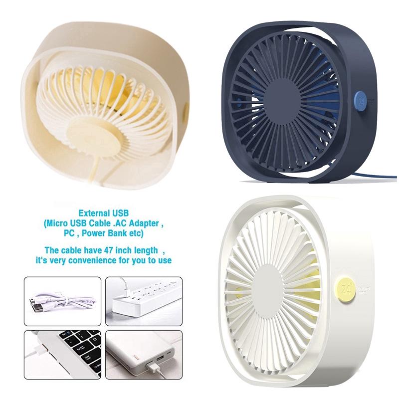 Detachable 3-Speed Adjustable Silent Fan USB Rechargeable Clip-on Car Mini Fan Memory Portable Fan 720 /° Rotatable Pink Office Desktop Fan