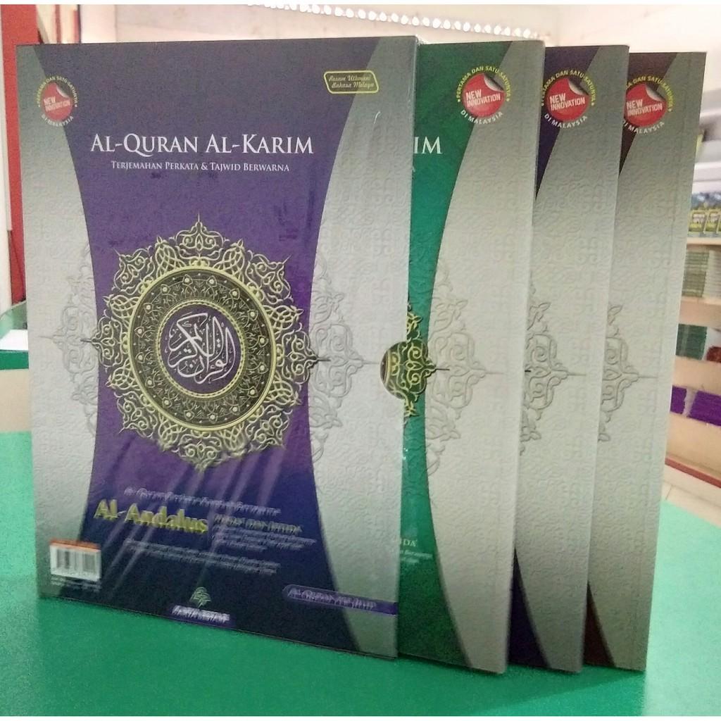 Al Quran Al Andalus (Per Jilid) Terjemahan Perkata Kaedah berwarna Wakaf Dan Ibtida'  Saiz A4 - (Karya Bestari)