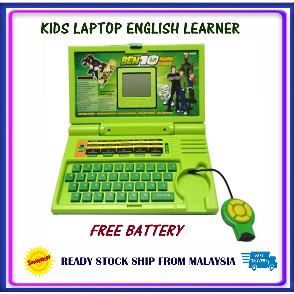 BEN 10 Free Battery Kids laptop English Learner Education Electronic Machine classics English Learner with MouseMouse