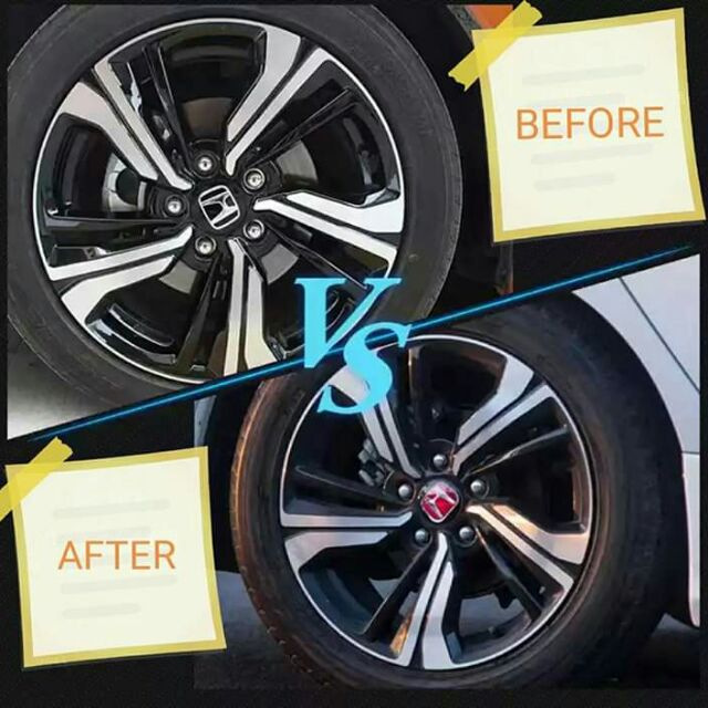 69mm Wheel Center Caps Hubs Cover Red-Set Of 4 For Honda Civic 2016-2018