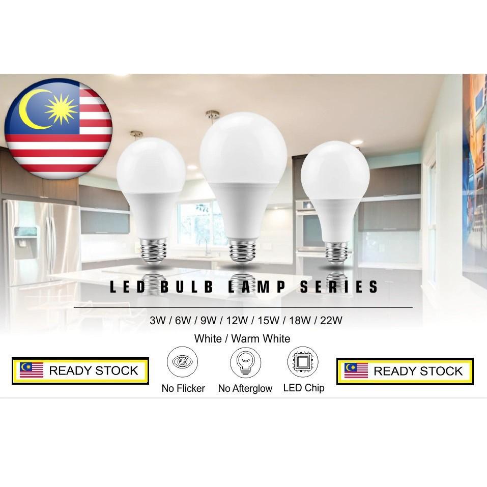 [ READY STOCK ]  Quality Led Light Bulb No Flicker E27 220V 240V 9w 15w 22w Lampu Raya Lamp Pelita Jualan Murah Flash