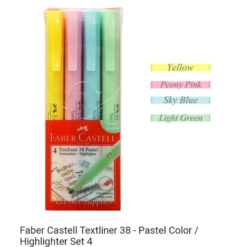 Faber-Castell Textliner 38 Pastel (set of 4) 158116