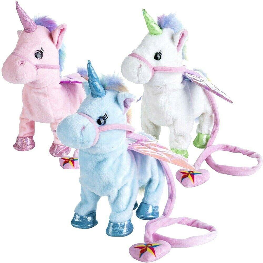 Walking Talking Unicorn Plush Toy With Talk Singing Songs Xmas Gift Kids Toys