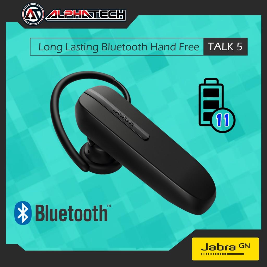 Jabra Talk 5 Long Lasting Bluetooth Hand Free 11 Hour Battery Life Shopee Malaysia