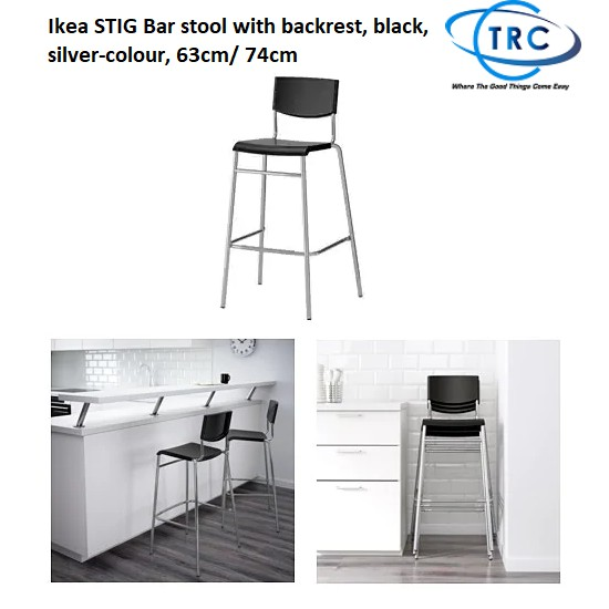 Miraculous Silver Colour Bar Stool With Backrest Black Stig Konozsigns Com Gmtry Best Dining Table And Chair Ideas Images Gmtryco