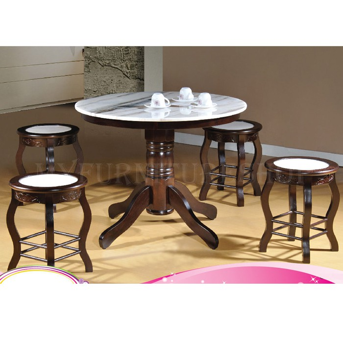 Chinatown 5pc Marble Table And Stool Set Delivery Klang Valley Only Shopee Malaysia