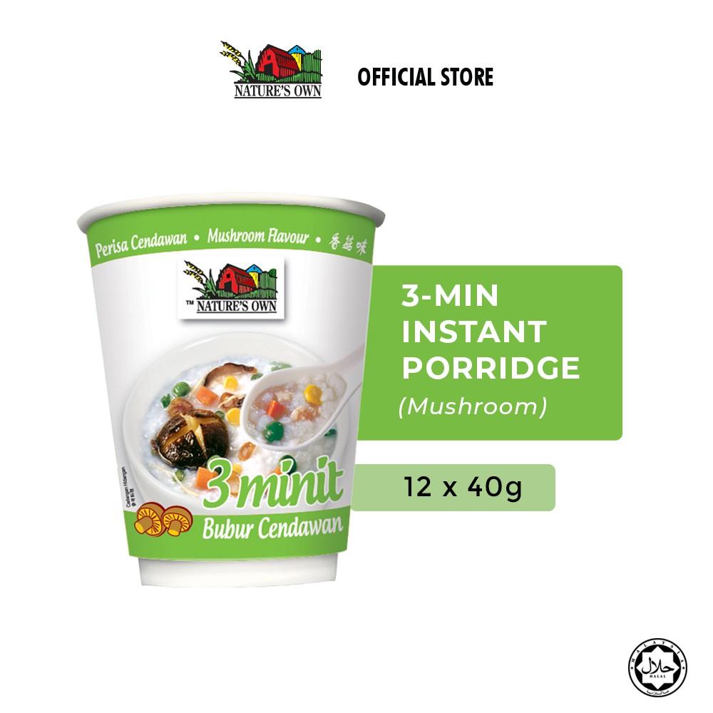 Nature's Own 3 Minutes Porridge Bundle - Mushroom (12 Pcs)