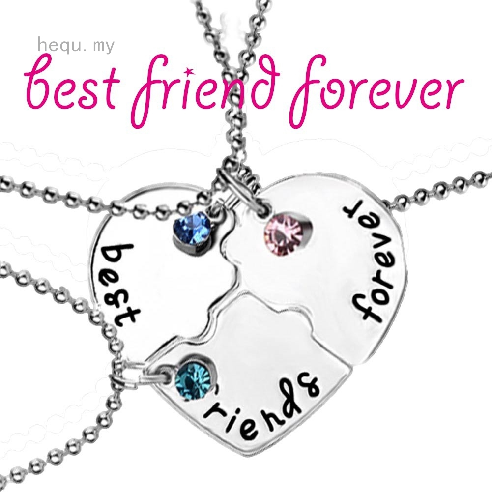 f7f2d25a97 Three-hearted Heart Shape Good Sister Friendship Pendant Sister Love  Necklace | Shopee Malaysia