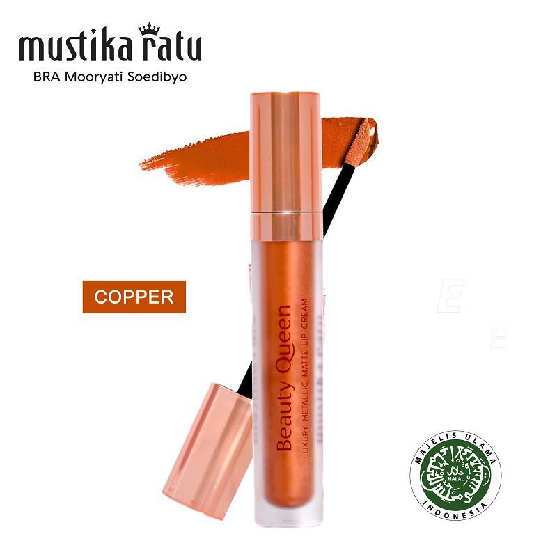 Mustika Ratu Beauty Queen Luxury Metallic Matte Lip Cream Copper 5.5ml