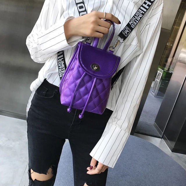 New shoulder sports backpack 新夏天小包包女新款百搭双肩酷潮女街头双肩运动小背包
