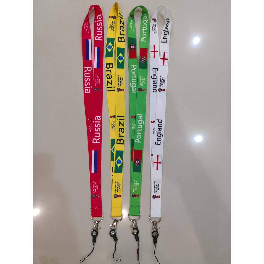 France Soccer World Cup Lanyard Necklace key Chain ID School Work Badge Holder