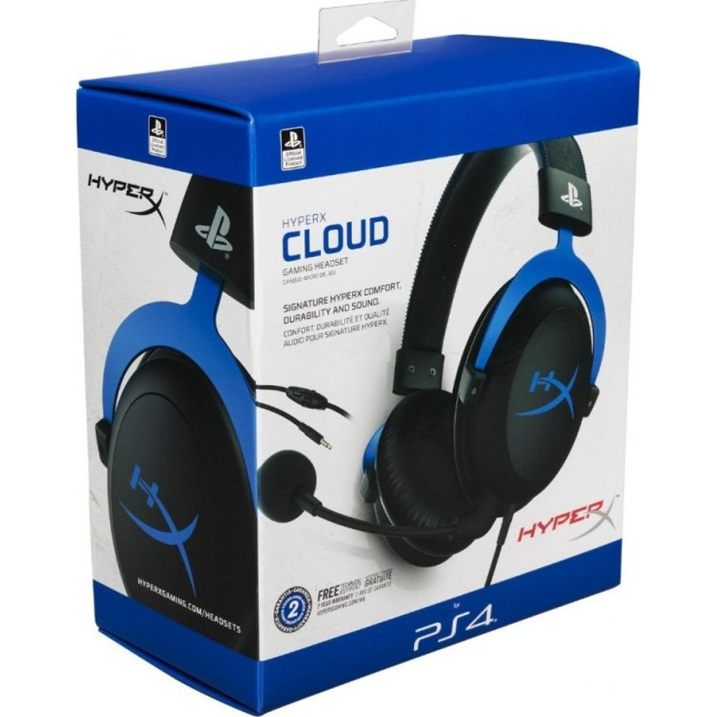 {HX-HSCLS-BL/AS} HyperX Cloud Blue Gaming Headset for PS4 PlayStation®4 systems