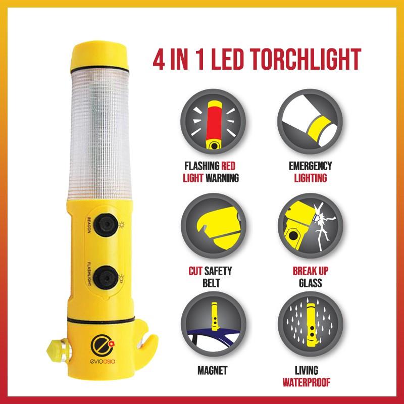 Emergency Multifunction LED Flashlight / Torchlight