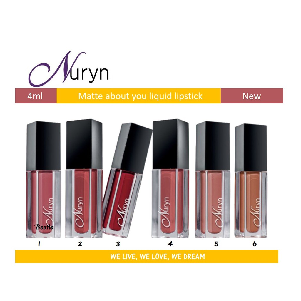 Nuryn Tupperware Matte About You Liquid Lipstick 4ml x 1pc