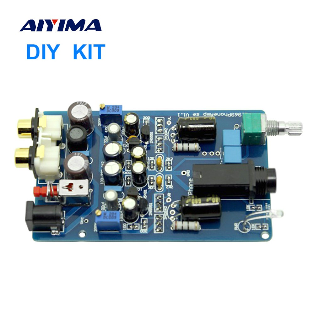 Aiyima Updated Tube Amp Preamp 6n3 Vacuum Preamplifier Srpp Headphone Amplifier Diy Kit Base On Lehmann Circuit Board Kits Shopee Malaysia