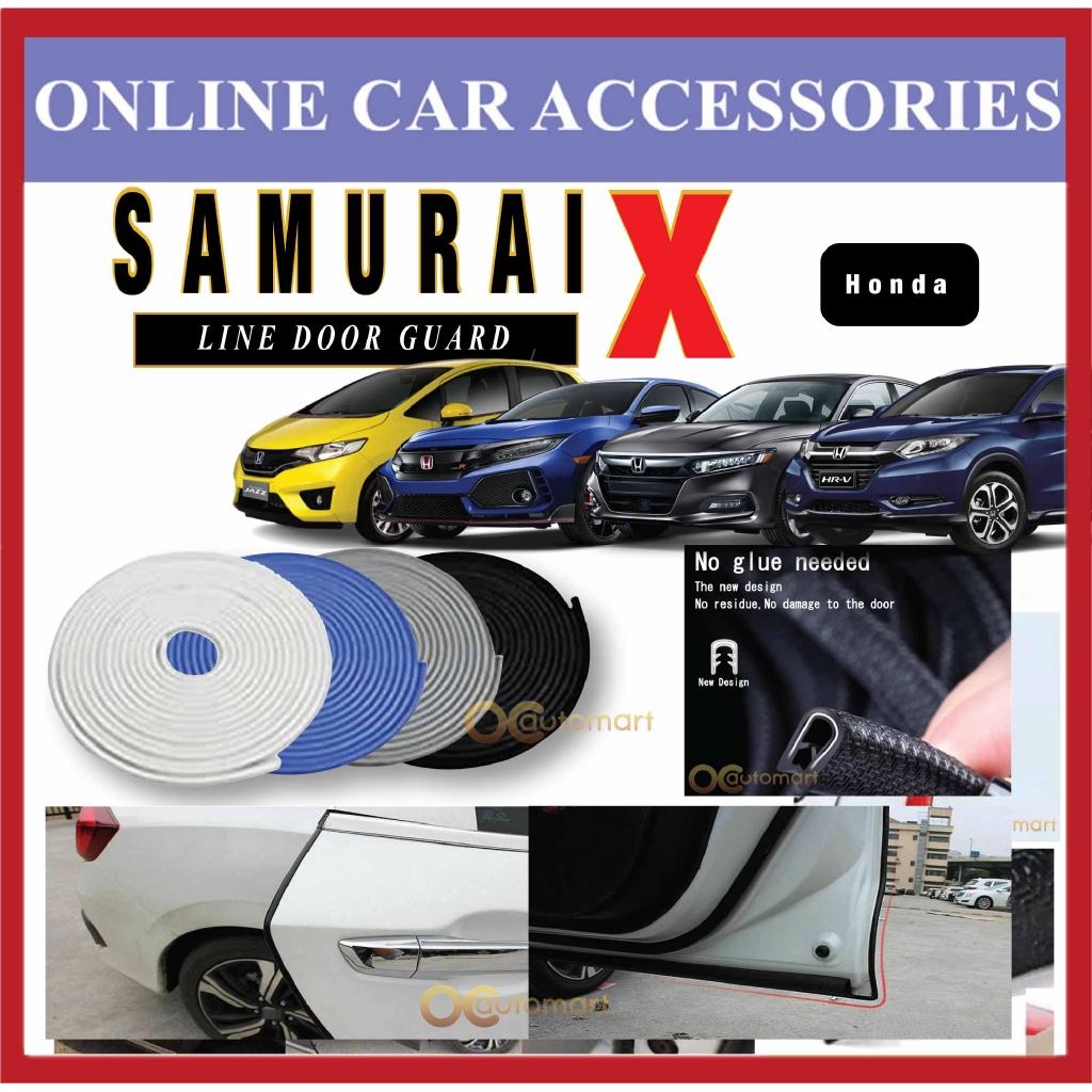 Samurai X Car Door Edge Guards 16Ft (5M) Rubber Car Door Protector Car Door Trim for Honda Car (4 Door)