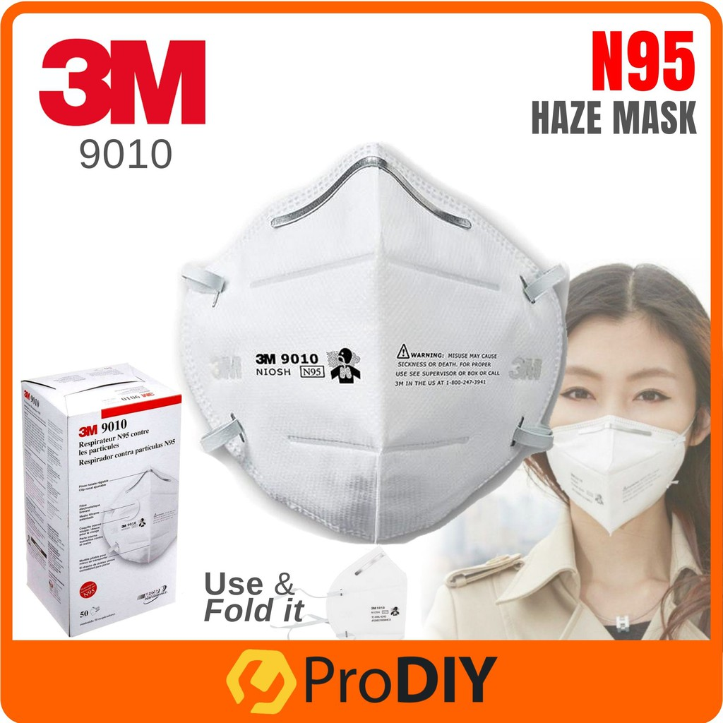3m 9010 disposable n95 particulate respirator face mask