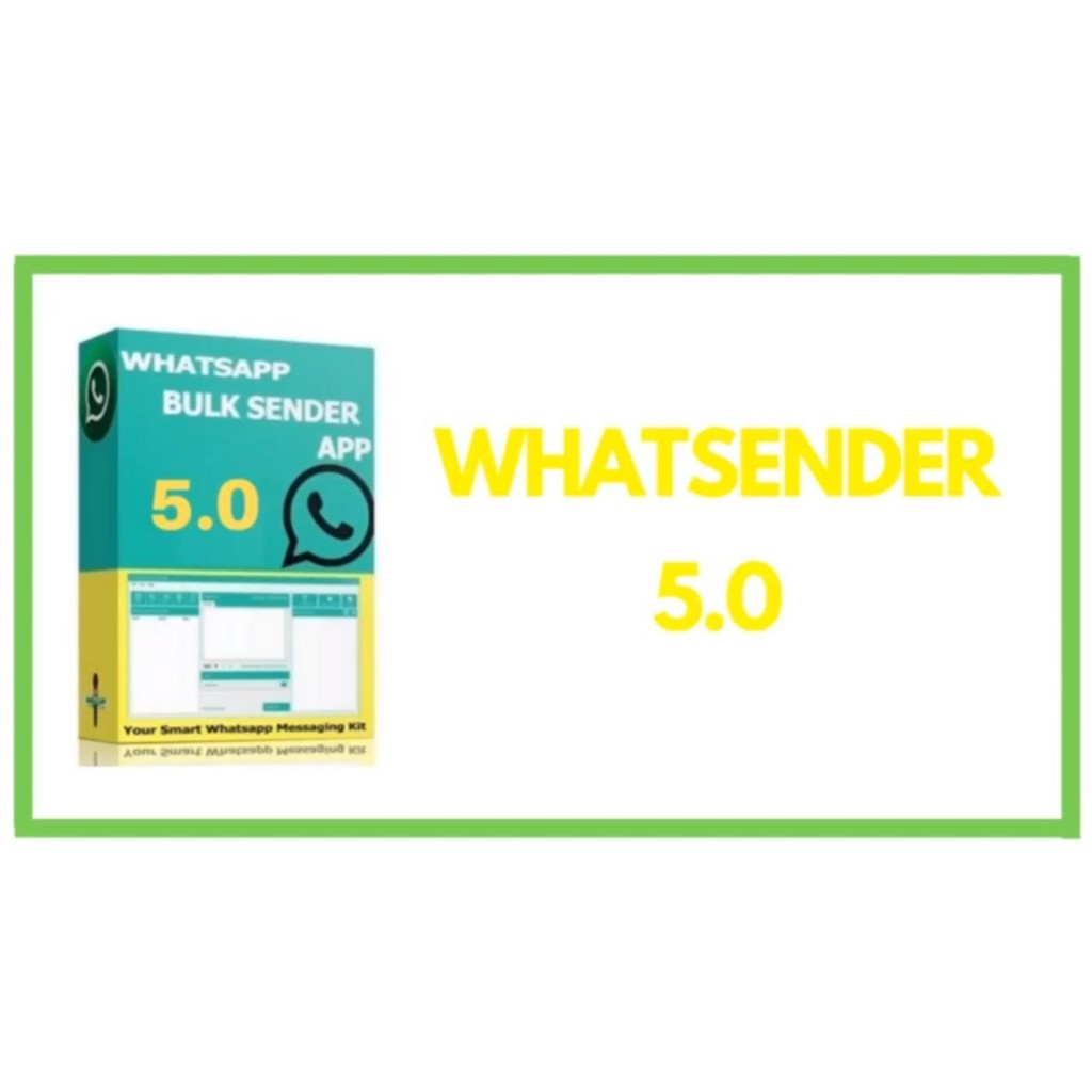 WhatsenderPro5 0 Window Version(Send Bulk Whatsapp Messages directly from  your PC)