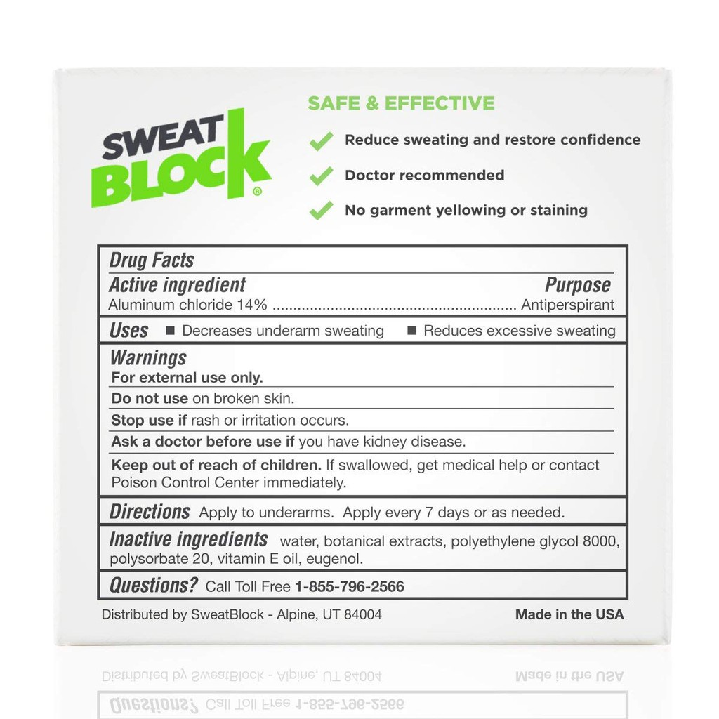 Clinical Strength SweatBlock Antiperspirant Reduce Sweat up to 7-days per