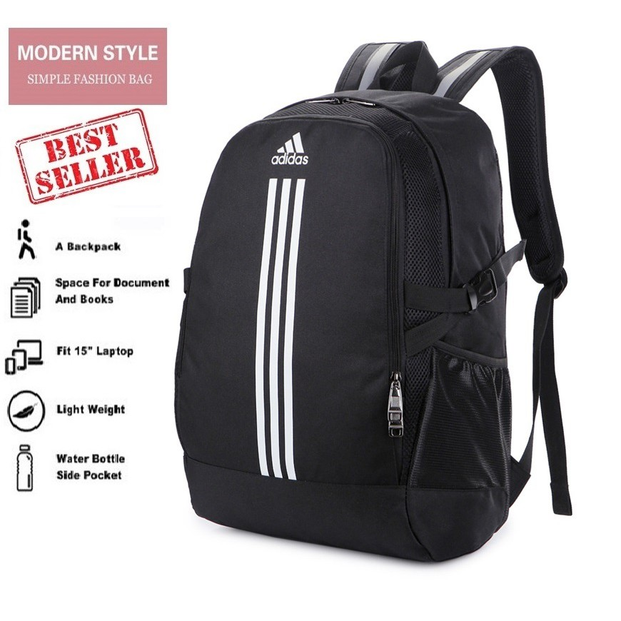 4dcd3258a0 3 Stripes Man Woman Laptop Travel School Outdoor Hiking adidas Backpack Bag