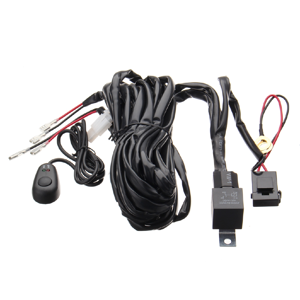 40a Relay Fuse Wiring Harness Loom Kits Led Light Bar On Off Laser Rocker Switch Lighted Spst Onoff 20a 12vdc Amber Shopee Malaysia