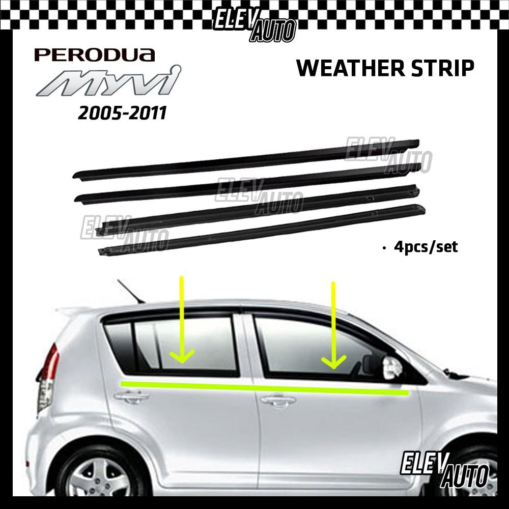 Perodua Myvi 2005 - 2011 Weather Strip Weatherstrip Window Moulding Belt Lining Getah Tingkap Perodua Myvi Accessories