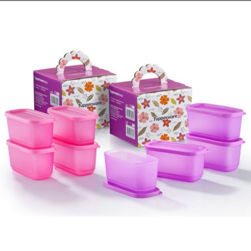 Tupperware Sweet Trinkets Gift Set Mini Cubix Half Square Round [250mL]