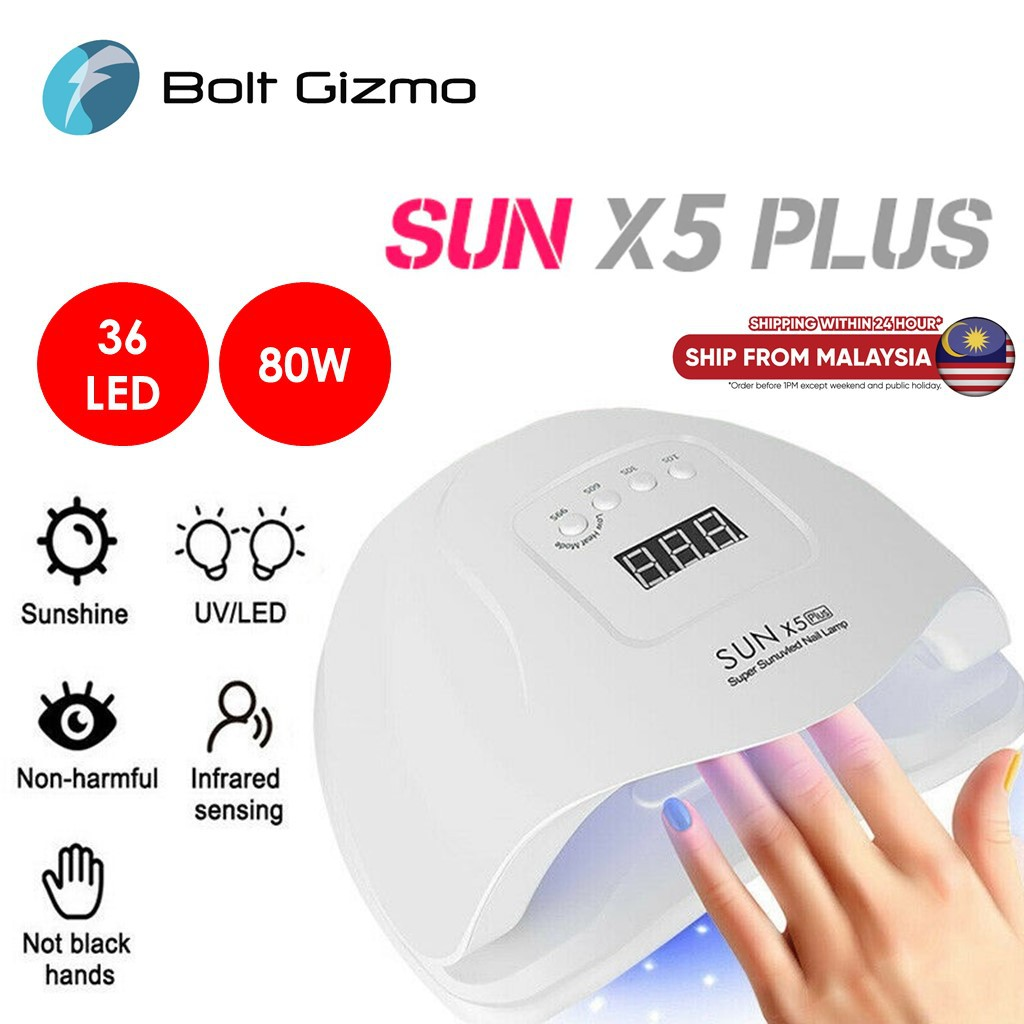 Nail Care UV Lamp SUN X5 Plus Dryer 80W LED Nail Lamp Nail Sun Light 36 Pcs Beads Manicure Varnish Gel Nails Hand predic
