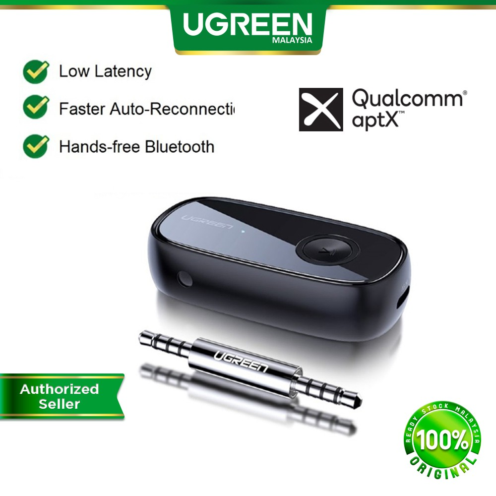 UGREEN Bluetooth Receiver 5.0 aptX LL 3.5mm AUX Jack Music Audio Wireless Adapter for Car Stereo PC Headphones