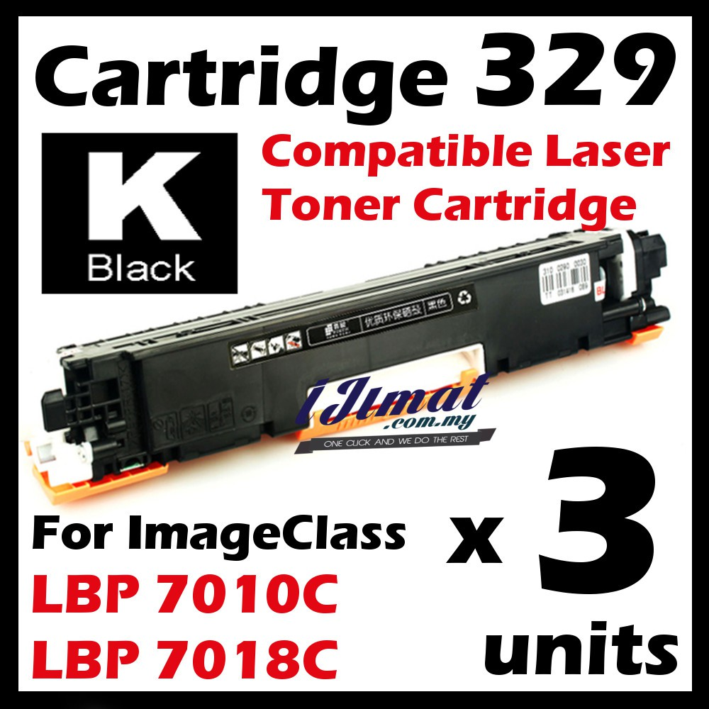 3x BLACK Canon Colour Toner Cartridge 329 LBP 7010c LBP 7018c LBP7010c LBP 7018c