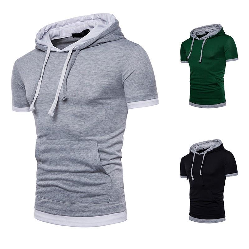 0948c3ba summer men new style big size hoodies short sleeve men t-shirt casual  t-shirt