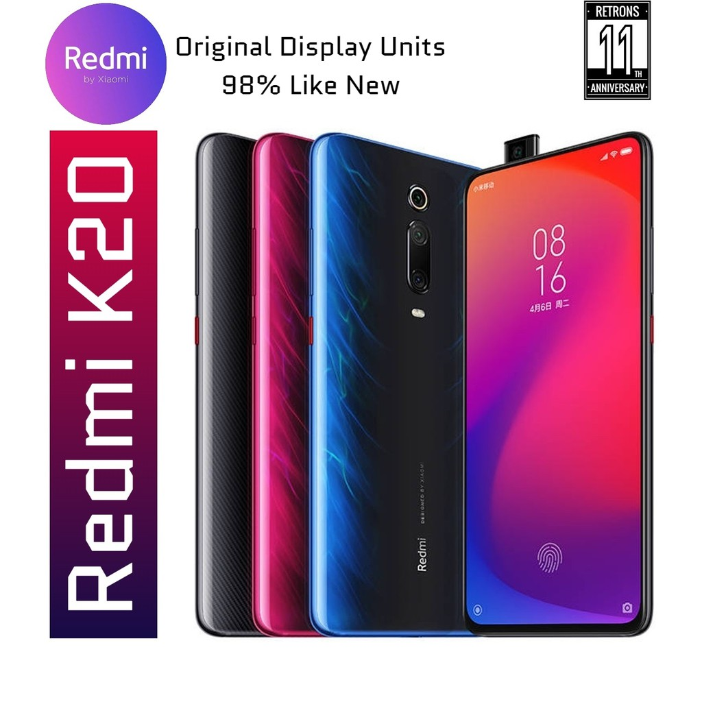 Original Xiaomi Redmi K20 64GB + 6GB [98% Like New Display Units] 1 Month Warranty from Retrons