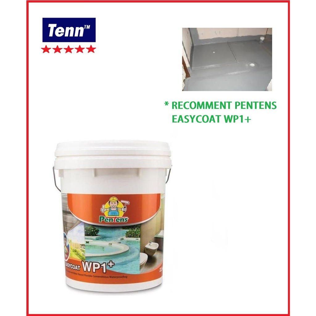 22 5kg Pentens Easycoat Wp1+ One Component Water-based Flexible  Cementitious Waterproofing