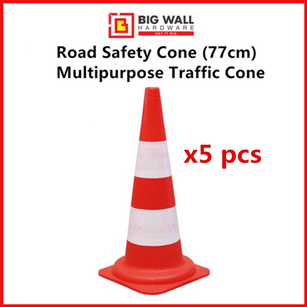 Safety Cone 77cm Multipurpose Traffic Cone (Red/Orange) *5pcs in one pack* Kon Keselamatan
