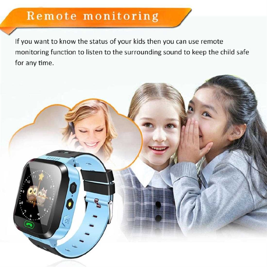 Kids Wristwatch Touch Screen Anti-Lost Smartwatch Great Gift For Children (Blue)