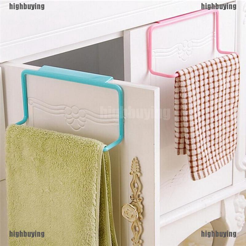 Over Door Rack Hanging Towel Bath Holder Bathroom Organizer Storage Hot