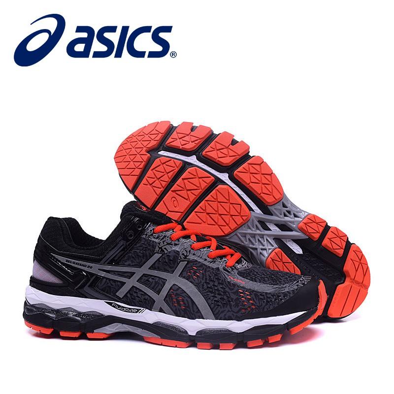 Original Asics Gel 22 Black Basketball shoes men s running shoes Lelaki  Kasut  dc9f1ee661d