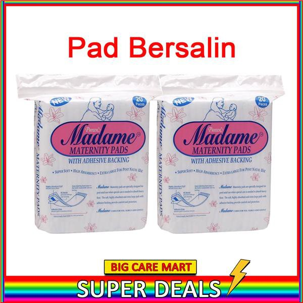 MADAME MATERNITY PADS PAD BERSALIN 20S x 2PACKS
