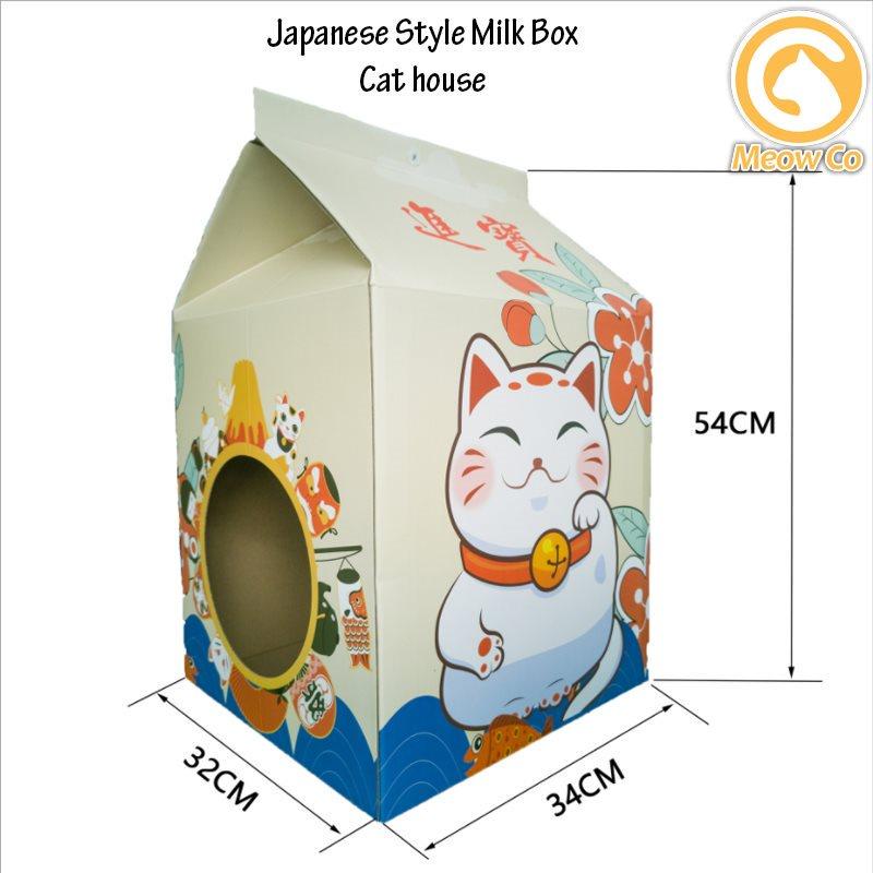 Cat Scratcher Pad Scratching Board Cat House Scratcher With Milk Box Design Rumah Kucing Mainan Local Stoc