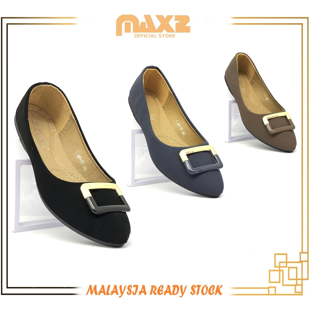 {Ready Stock}Ladies Non-slip Comfort & Casual Pointed Toe Flat Shoe
