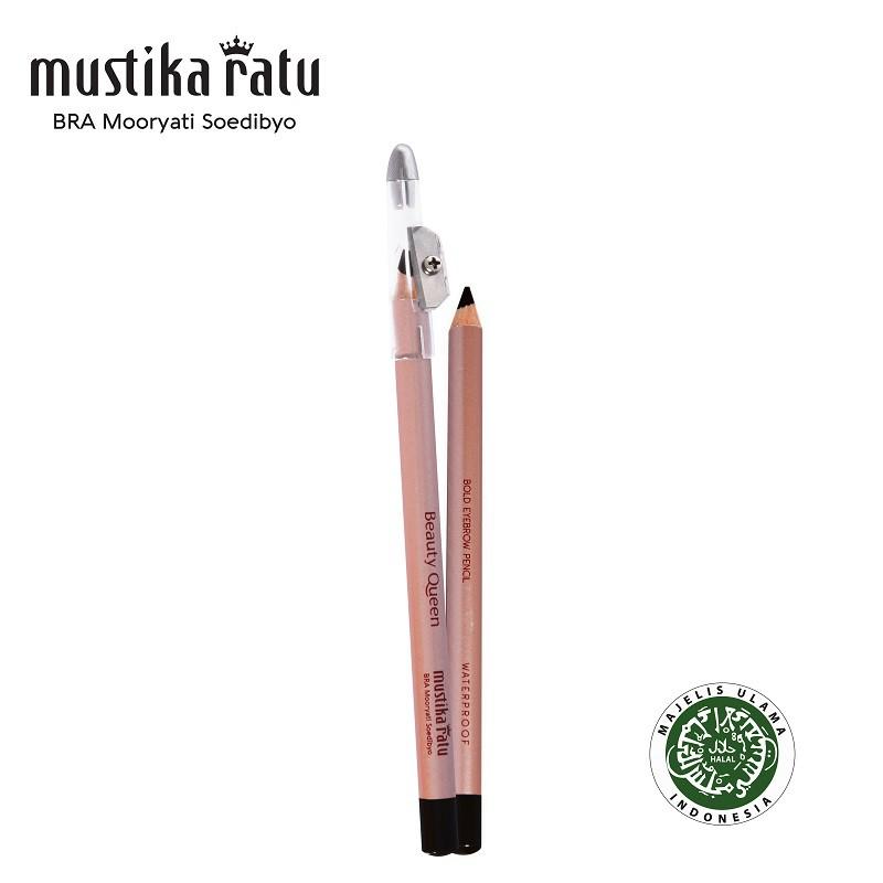 Mustika Ratu Beauty Queen Bold Eye Brow Pensil Langes 1.2gr Black